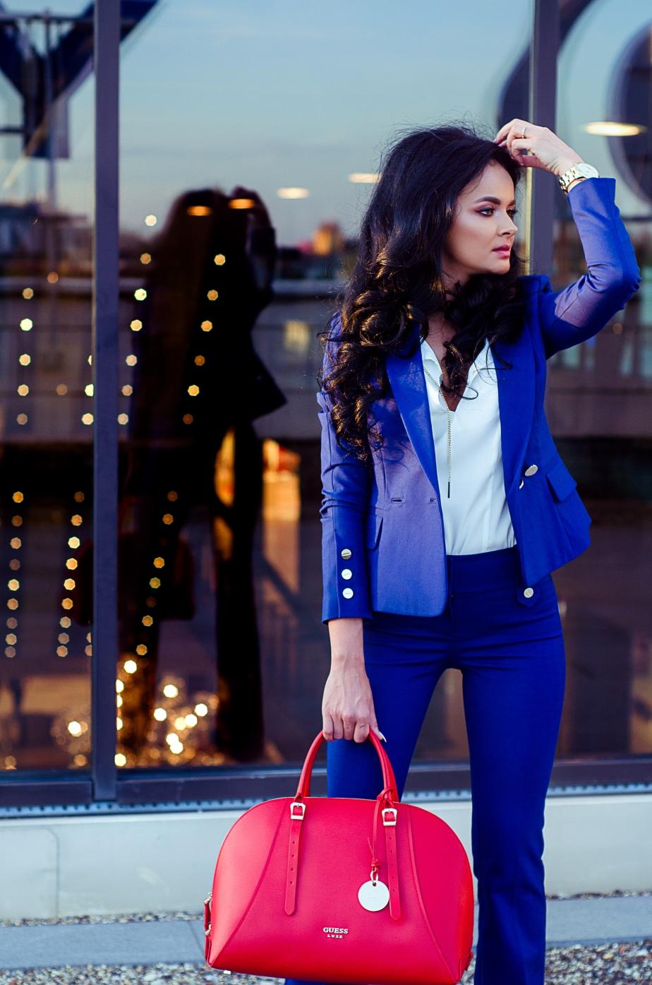 business, office, albastru electric, camasa